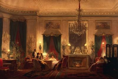 The Drawing Room of Princess Mathilde in Rue De Courcelles in Paris, 1859
