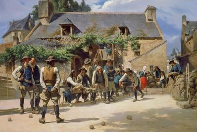 The Game of Boules at Pont-Aven, 1869
