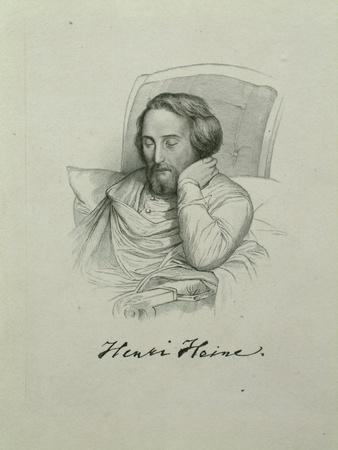 Portrait of the Poet Heinrich Heine (1797-185), 1851