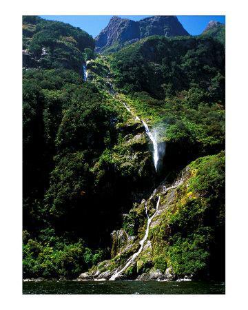 Breaking Waterfall, New Zealand