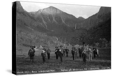 Telluride Band in Bridal Veil Park Ingram and Bridal Veil Falls, 1886