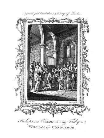 'Bishops and Citizens Swearing Fealty to William the Conqueror.', (c1770)