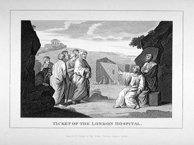 Ticket for the London Hospital Showing Christ and the Disciples, C1825