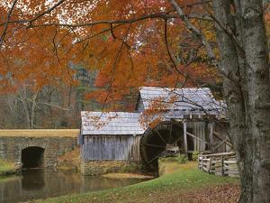 Autumn at Mabry Mill, Blue Ridge Parkway, Virginia, USA by Charles Gurche