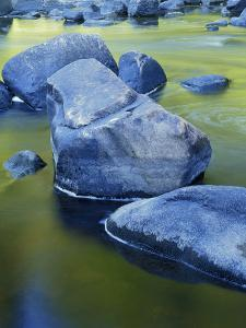 Boulders and Reflection, Little Salmon River, Idaho, USA by Charles Gurche