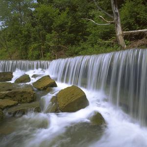 Deep Creek Falls, Kansas, USA by Charles Gurche