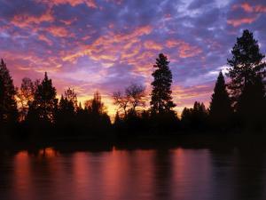 Deschutes River at sunrise, Bend, Oregon, USA by Charles Gurche