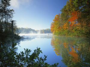 Fairy Stone Lake, Fairy Stone State Park, Virginia, USA by Charles Gurche