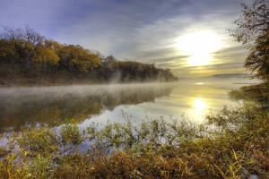 Lake Jacomo at Sunset, Fleming Park, Kansas City, Missouri, USA by Charles Gurche