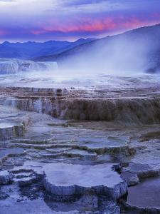 Mammoth Hot Springs, Yellowstone National Park, Wyoming, USA by Charles Gurche