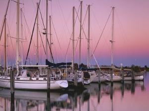 Sailboats at Dusk, Chesapeake Bay, Virginia, USA by Charles Gurche