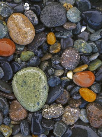 Stones, Lopez Island, Agate Beach County, Washington, USA