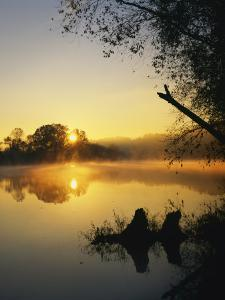 Sunrise on the James River, Bedford County, Virginia, USA by Charles Gurche