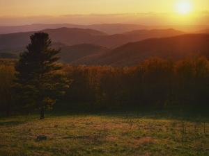 Sunset from Hazeltop Ridge, Shenandoah National Park, Virginia, USA by Charles Gurche