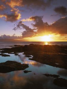 Sunset from Napili Point, Maui, Hawaii, USA by Charles Gurche