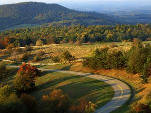 The Blue Ridge Parkway, Patrick County, Virginia, USA by Charles Gurche