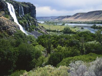Thousand Springs, Snake River, Idaho, USA by Charles Gurche