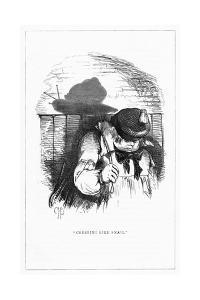 Shadow Drawing. C.H. Bennett, Snail by Charles H Bennett