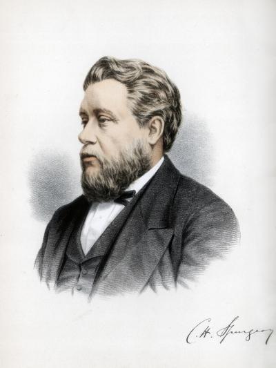 Charles Haddon Spurgeon, British Baptist Preacher, C1890-Petter & Galpin Cassell-Giclee Print