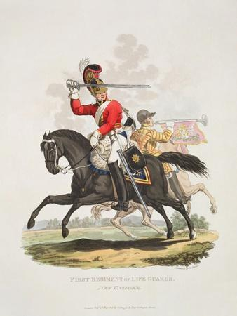 First Regiment of Life Guards, New Uniform, Engraved by Joseph Constantine Stadler, 1815
