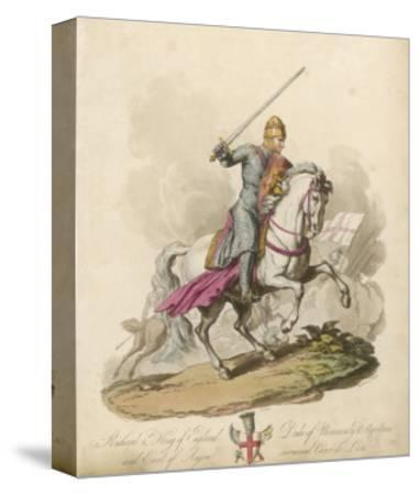Richard I the Lionheart Depicted Riding into Battle Broadsword in Hand Armoured from Head to Foot