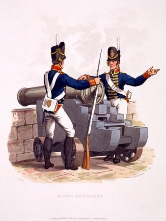 Uniform of the Royal Artillery, from 'Costume of the British Empire, According to the Last…