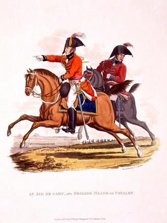 Uniforms of an Aide De Camp, and of a Brigade Major of Cavalry, from 'Costume of the British…