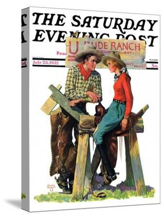 """""""Dude Ranchers,"""" Saturday Evening Post Cover, July 23, 1932"""