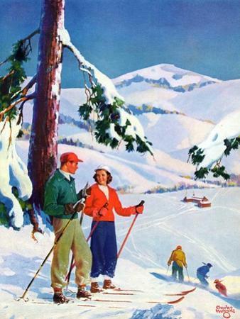 """Ski Break,""January 1, 1939 by Charles Hargens"