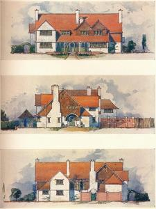 House at the Garden City, Letchworth, C1906 by Charles Harrison Townsend