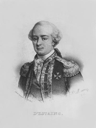 Charles Hector, Comte D'Estaing-Alfred Leon Lemercier-Giclee Print