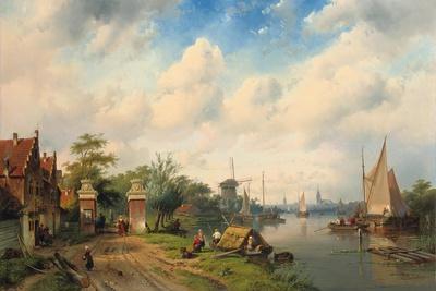 A River Landscape in Summer, 1853
