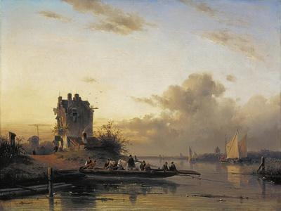 Crossing the River in the Evening Lighht, 1844