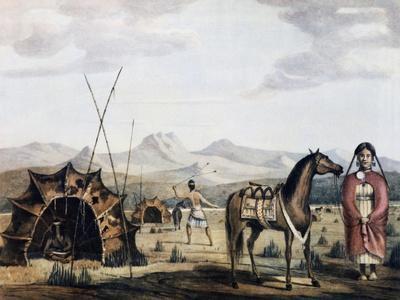 Indigenous Campsite in Sierra De La Ventana, 1830