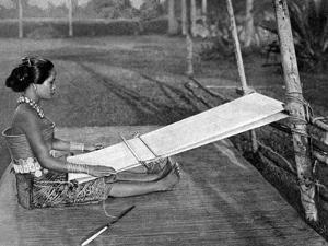 Iban Weaver, Borneo, 1922 by Charles Hose