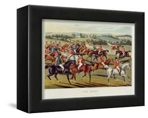 The Meet', Plate I from 'Fox Hunting', 1838 (Hand-Coloured Aquatint) by Charles Hunt