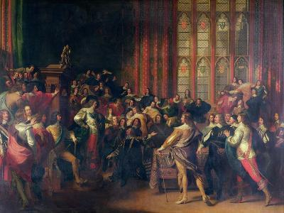 Charles I Demanding the Five Members in the House of Commons in 1642-John Singleton Copley-Giclee Print