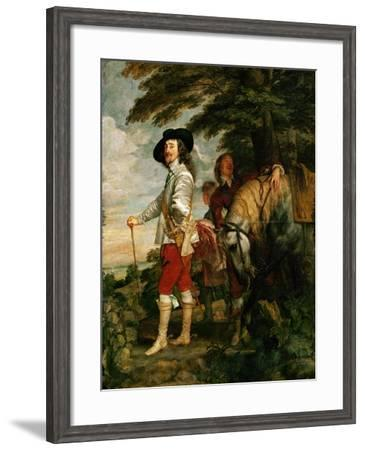 Charles I, King of England During a Hunting Party-Sir Anthony Van Dyck-Framed Giclee Print