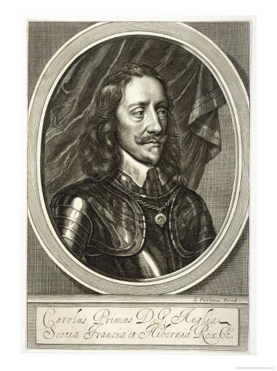 Charles I of England in Armour-G. Faithorne-Giclee Print
