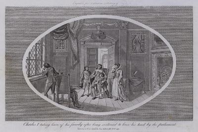 Charles I Taking Leave of His Family after Being Sentenced to Loose His Head by the Parliament--Giclee Print