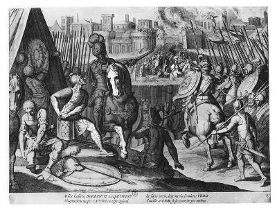 Charles Iii, Duke of Bourbon at the Sack of Rome in 1527-Cornelis Boel-Giclee Print