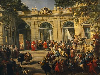 Charles III of Bourbon on Visit to Pope Benedict XIV in Coffee House of Quirinal--Giclee Print