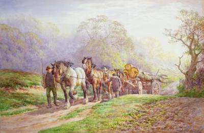 A Logging Team Returning Home by Charles James Adams