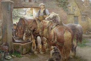 At the Village Pump by Charles James Adams