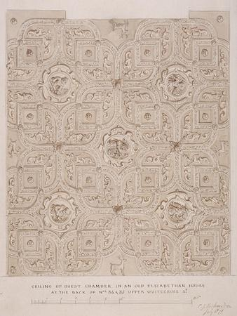 Ceiling of Guest Chamber in a House on Whitecross Street, London, 1871