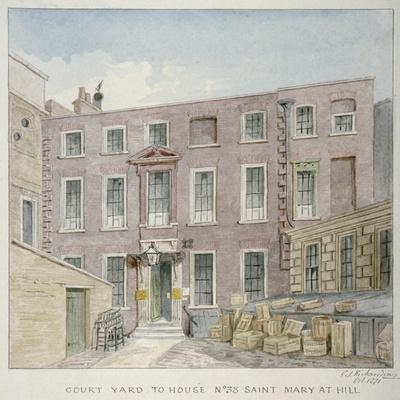 View of the Courtyard at No 38 St Mary at Hill, City of London, 1871