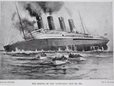 The Sinking of the Lusitania, May 7th 1915, Hutchinson's Story of the British Nation, c.1920