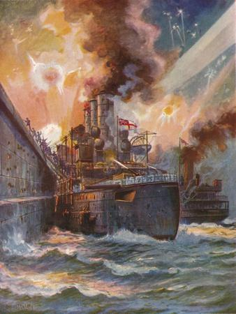 'The Vindictive at Zeebrugge', 1918 (1919)