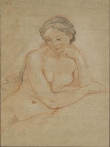 Etude de femme nue by Charles Joseph Natoire