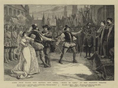 Scene from Signor Tito Mattei's New Opera, Maria Di Gand, at Her Majesty's Theatre